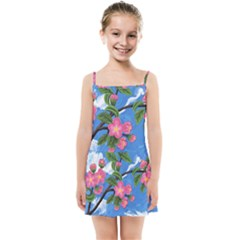 Cherry Blossoms Kids Summer Sun Dress