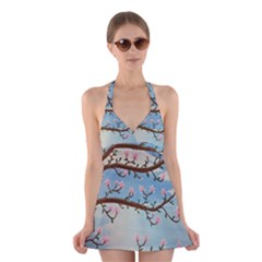 Magnolias Halter Dress Swimsuit