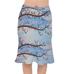 Magnolias Mermaid Skirt