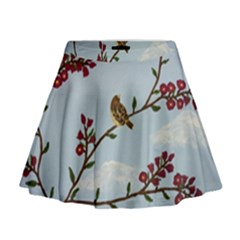 Robin On Plumb Tree Mini Flare Skirt