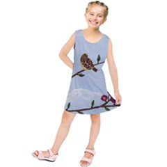 Robin On Plumb Tree Kids  Tunic Dress