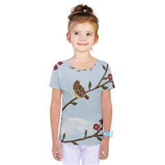 Robin On Plumb Tree Kids  One Piece Tee