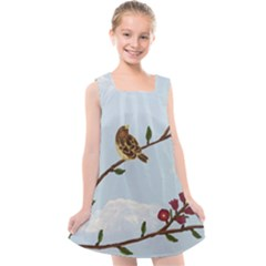 Robin On Plumb Tree Kids  Cross Back Dress