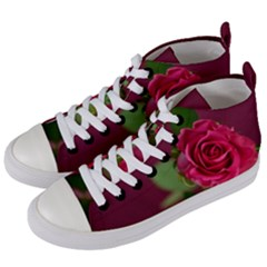 Rose 693152 1920 Women s Mid Top Canvas Sneakers by vintage2030