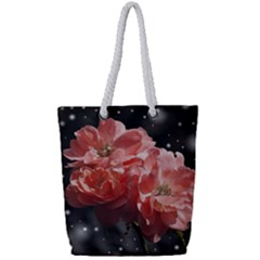 Rose 572757 1920 Full Print Rope Handle Tote (small) by vintage2030