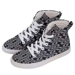 Monochrome Centipede Arabesque Women s Hi-top Skate Sneakers by linceazul