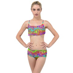 Colorful Wavy Shapes                                          Layered Top Bikini Set