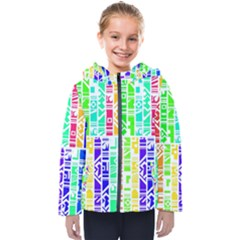 Colorful Stripes                                          Kids  Hooded Puffer Jacket