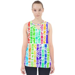 Colorful Stripes                                           Cut Out Tank Top by LalyLauraFLM