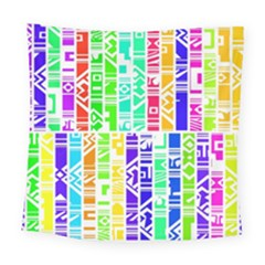Colorful Stripes                                          Square Tapestry by LalyLauraFLM