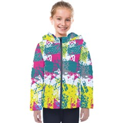 Cracked Shapes                                            Kids  Hooded Puffer Jacket