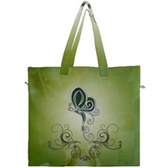 Wonderful Butterlies , Green Colors Canvas Travel Bag by FantasyWorld7