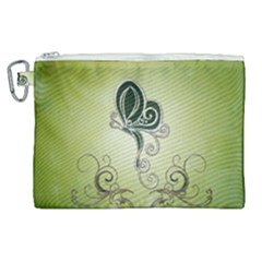Wonderful Butterlies , Green Colors Canvas Cosmetic Bag (xl) by FantasyWorld7