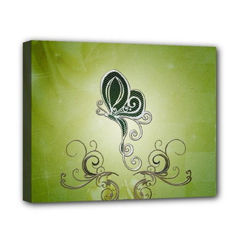 Wonderful Butterlies , Green Colors Canvas 10  X 8  (stretched) by FantasyWorld7