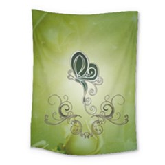 Wonderful Butterlies , Green Colors Medium Tapestry by FantasyWorld7
