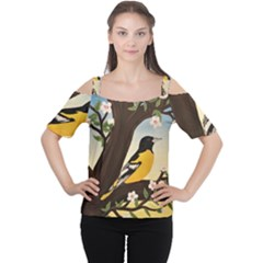 Oriole Cutout Shoulder Tee