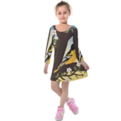 Oriole Kids  Long Sleeve Velvet Dress