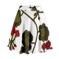 Geraniums High Waist Skirt