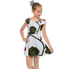 Geraniums Kids Cap Sleeve Dress