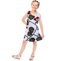 Geraniums Kids  Tunic Dress
