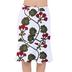 Geraniums Mermaid Skirt