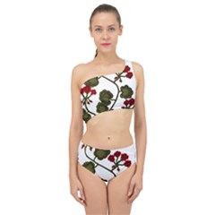 Geraniums Spliced Up Two Piece Swimsuit
