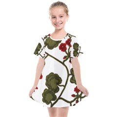 Geraniums Kids  Smock Dress