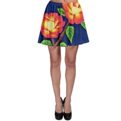 Sunset Flowers Skater Skirt