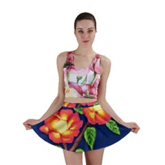 Sunset Flowers Mini Skirt