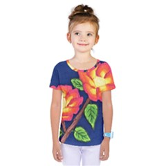 Sunset Flowers Kids  One Piece Tee