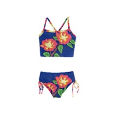 Sunset Flowers Girls  Tankini Swimsuit
