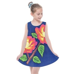 Sunset Flowers Kids  Summer Dress