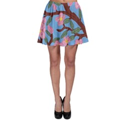 Cherry Blossoms Tree Skater Skirt