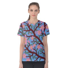 Cherry Blossoms Tree Women s Cotton Tee