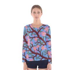 Cherry Blossoms Tree Women s Long Sleeve Tee