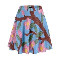 Cherry Blossoms Tree High Waist Skirt