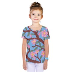 Cherry Blossoms Tree Kids  One Piece Tee