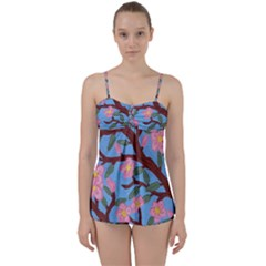 Cherry Blossoms Tree Babydoll Tankini Set