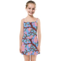 Cherry Blossoms Tree Kids Summer Sun Dress