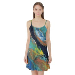 Space Satin Night Slip