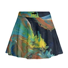 Space Mini Flare Skirt