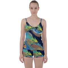 Space Tie Front Two Piece Tankini