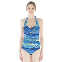 Sunlit Waters Halter Swimsuit