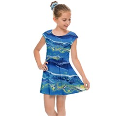 Sunlit Waters Kids Cap Sleeve Dress