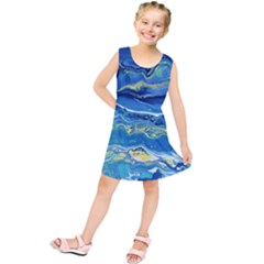 Sunlit Waters Kids  Tunic Dress