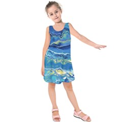 Sunlit Waters Kids  Sleeveless Dress