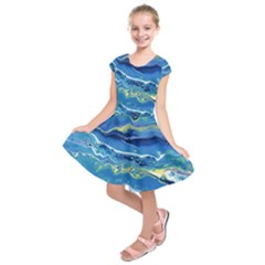 Sunlit Waters Kids  Short Sleeve Dress