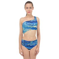 Sunlit Waters Spliced Up Two Piece Swimsuit by lwdstudio