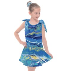 Sunlit Waters Kids  Tie Up Tunic Dress