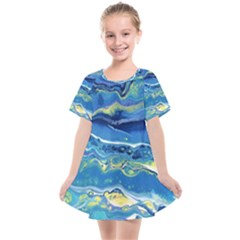 Sunlit Waters Kids  Smock Dress